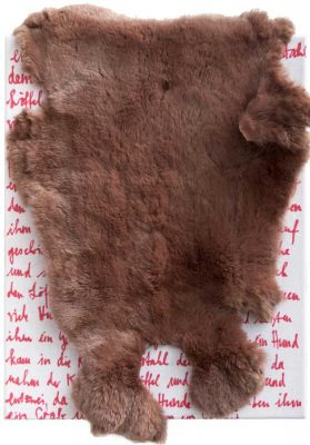 Pelzchen 2014, Fell, Textil, 45x35cm